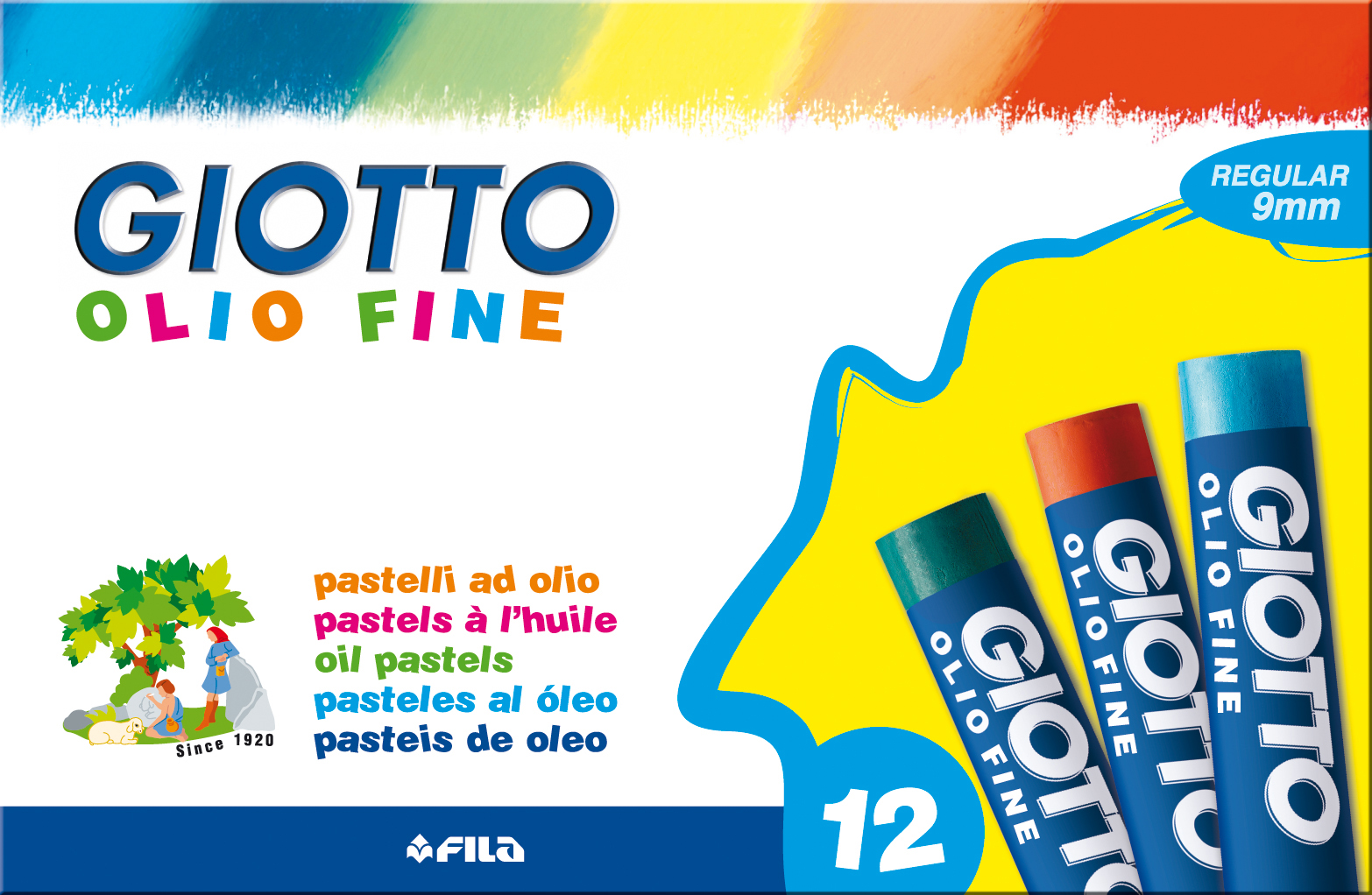 Oljepastellkrita Giotto 12/fp