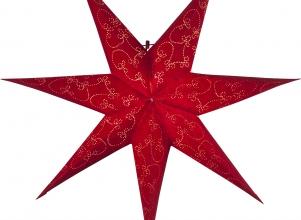 Julstjärna papper Decorus Röd